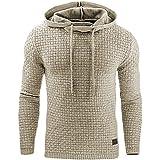 Uomo Felpa con Cappuccio a Maniche Lunghe Autunno Invernale Sportivo Pullover Sweatshirt Hoodie Giacca Nero/Grigio/Bianco XS-2XL