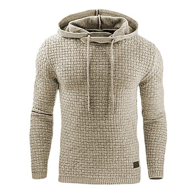 bacd9ff83d Uomo Felpa con Cappuccio a Maniche Lunghe Autunno Invernale Sportivo  Pullover Sweatshirt Hoodie Giacca Nero/Grigio/Bianco XS-2XL: Amazon.it:  Abbigliamento