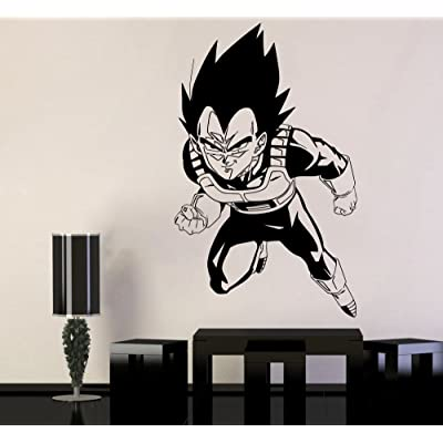 Dragon Ball Wall Vinyl Decal Vegeta Anime Cartoon Vinyl Sticker Home Interior Decor Childs Room Design Wall Art db11(22x36): Baby