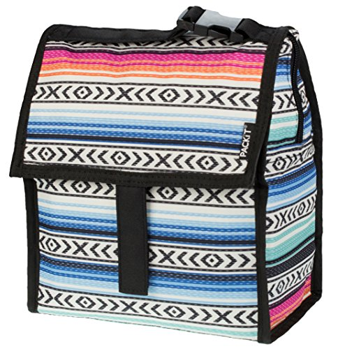 PackIt Freezable Lunch Bag with Zip Closure, Fiesta ()