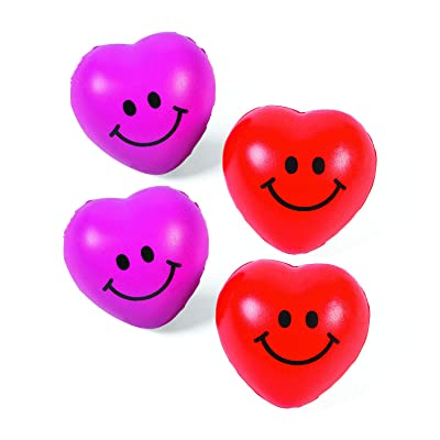 Mini Relaxable Squeeze Hearts - Valentine's Day & Novelty Toys & Games (2 DOZEN) - BULK: Kitchen & Dining