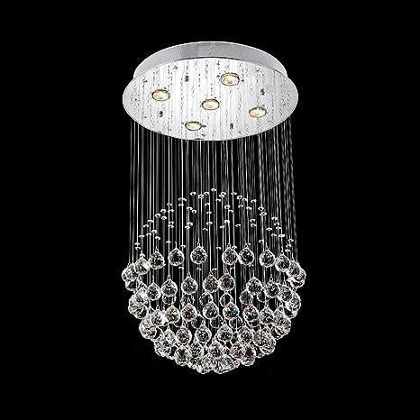Chandelier- LED Modern Rain Drop Large Crystal Balls ...