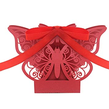 Amazon zorpia new 50pcs laser cut butterfly wedding favor box zorpia new 50pcs laser cut butterfly wedding favor box candy box gift box wedding favors stopboris Image collections