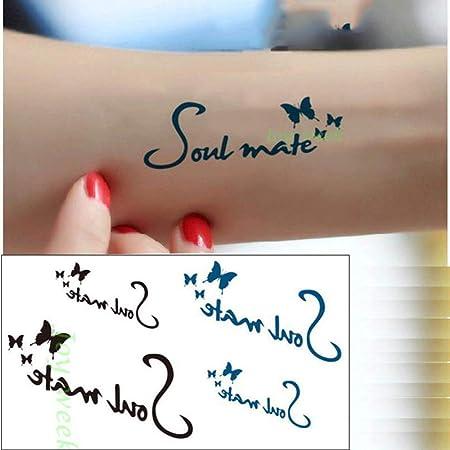 5pcs Impermeable Etiqueta engomada del Tatuaje Cintura Letras ...