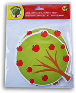 Apple Tree Classroom Decor Embossed Paper Cut-Outs - 10 Count
