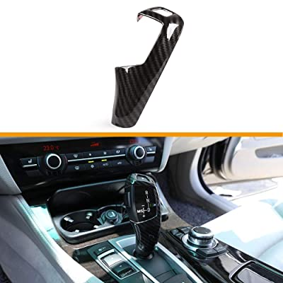 TulinTulin Carbon Fiber Printing Plastic Gear Shift Knob Cover Trim for BMW F20 F30 F31 F34 X5 F15 X6 F16 X3 F25 X4 F26 F10 (Style#1-Normal Type): Automotive