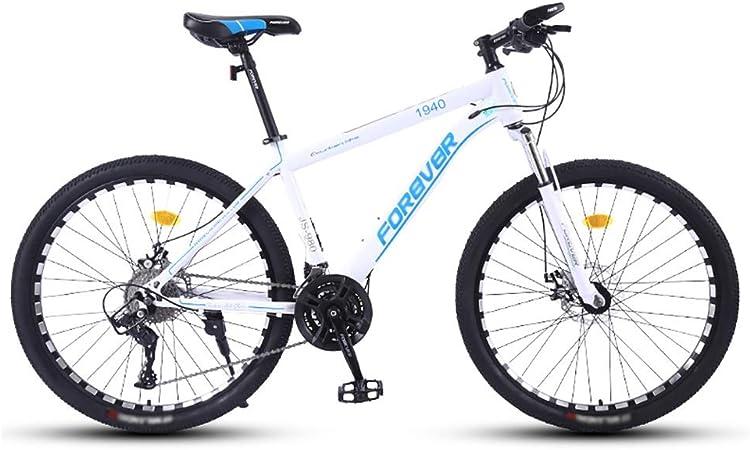 TOOLS Mountain Bike Bicicleta para Joven Las Bicicletas MTB MTB Adulto Camino de la Bicicleta de los Hombres de 24 Velocidad 26 Pulgadas Llantas de Las Mujeres por (Color : White): Amazon.es: Hogar
