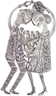 """product image for 'Eternal Love Couple' American Made Cast Pewter Metal Art Plaque, 10"""""""