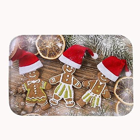 TrUiuiui Christmas Cookies Bath Mat Coral Fleece Area Rug Door Mat Entrance Rug Floor Mats for Front Outside Doors Entry Carpet 40 X 60 X 1.3 cm SDJ-219