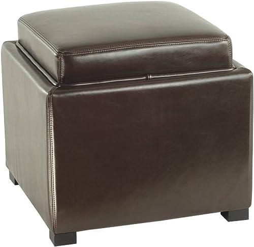 Safavieh Bobbi Cube Ottoman Color: Brown
