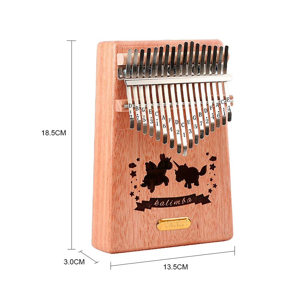 QStyle Kalimba 17 Key Thumb Piano Include Tuning kit Hammer and Study Instruction & Simple Sheet Music Suitable for kids Adult Beginners, Professionals - Perfect Gift (blue) by QStyle (Image #4)