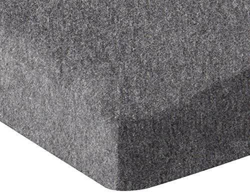 AmazonBasics Heather Jersey Fitted Crib Sheet, Dark Gray
