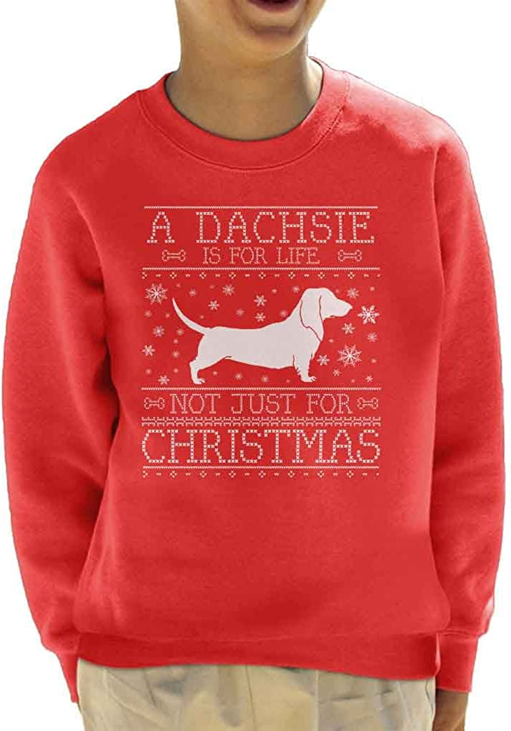 A Dachsie Is For Life Not Just For Christmas Kids Sweatshirt