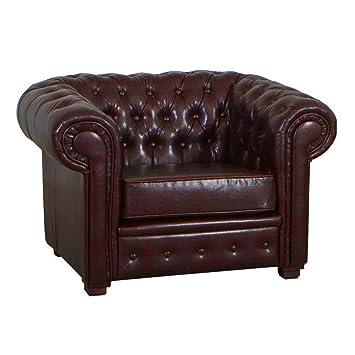 CRAVOG Piel sofá Chesterfield sofá sillones en un ntique ...
