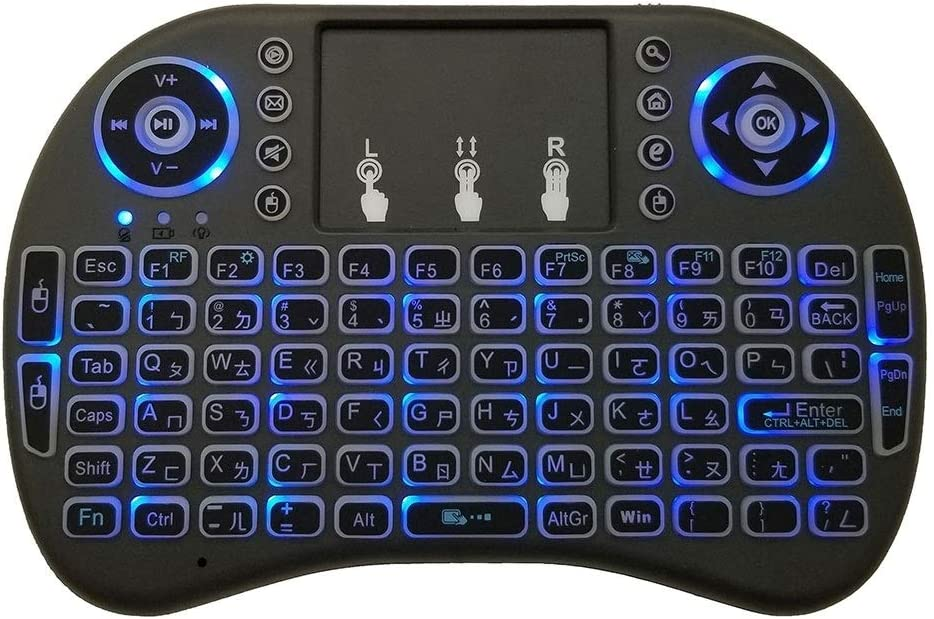 Taiwanese i8 Air Mouse Wireless Backlight Keyboard with Touchpad for Android TV Box /& Smart TV /& PC Tablet /& Xbox360 /& PS3 /& HTPC//IPTV Premium Material Support Language