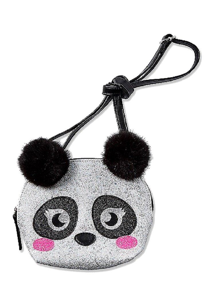 Justice For Girls Panda Pom Pom Crossbody Purse Bag