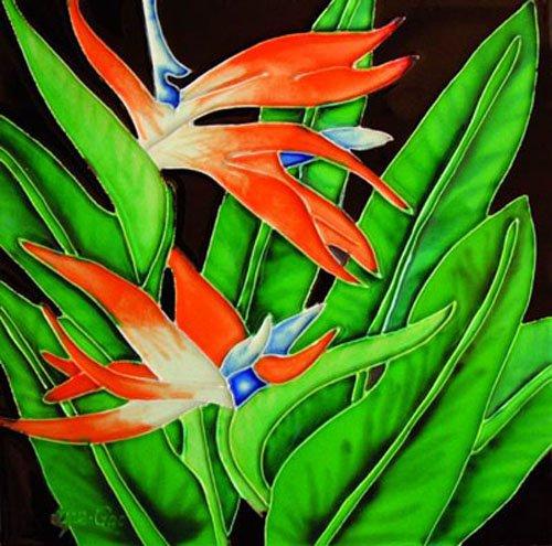 Bird of Paradise - Decorative Ceramic Art Tile - 8