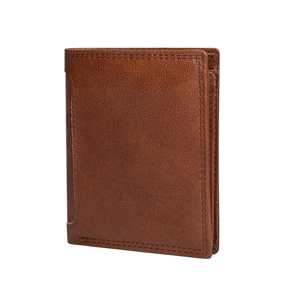 Mens Leather Wallet RFID Blocking Credit Card Holder Coin Pocket Purse 10x2x12cm