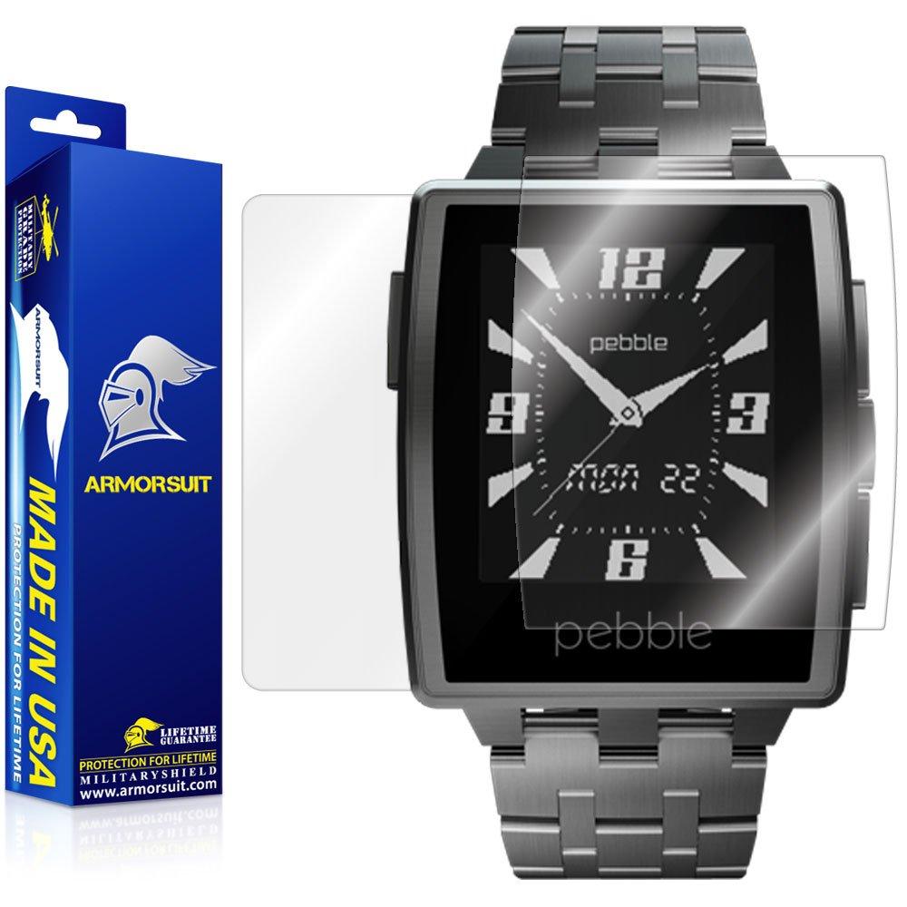 ArmorSuit Pebble Steel Smartwatch Screen Protector + Full Body Clear Skin MilitaryShield Back Protector For Pebble Steel Smartwatch -HD Clear ...