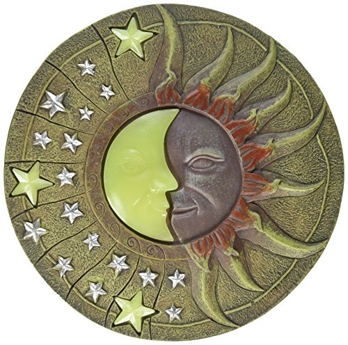Circular Moon & Sun Celestial Glow in The Dark Stepping Stone Garden ()