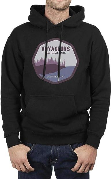 Voyageurs National Park Mens Hooded Fleece Sweatshirt Design Pocket Pullover Hoodie Sweater