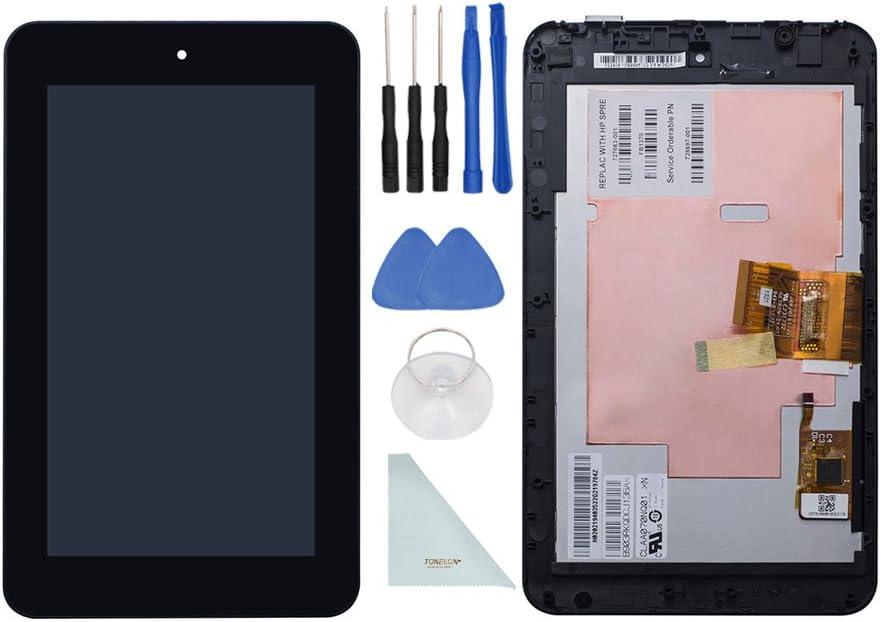 tonelon repuesto LCD pantalla Touch pantalla digitalizador Asamblea + marco para tablet HP Slate 7 + 3 mm cinta adhesiva de doble cara adhesiva + herramientas abierto + paño de limpieza: Amazon.es: Electrónica