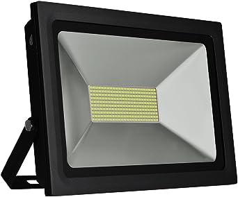 Solla® Foco proyector LED 100W para exteriores, blanco diurno ...