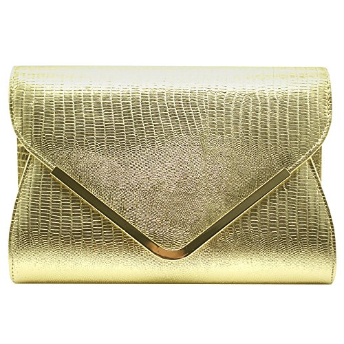 Gold Clutch Bag River Island - 6