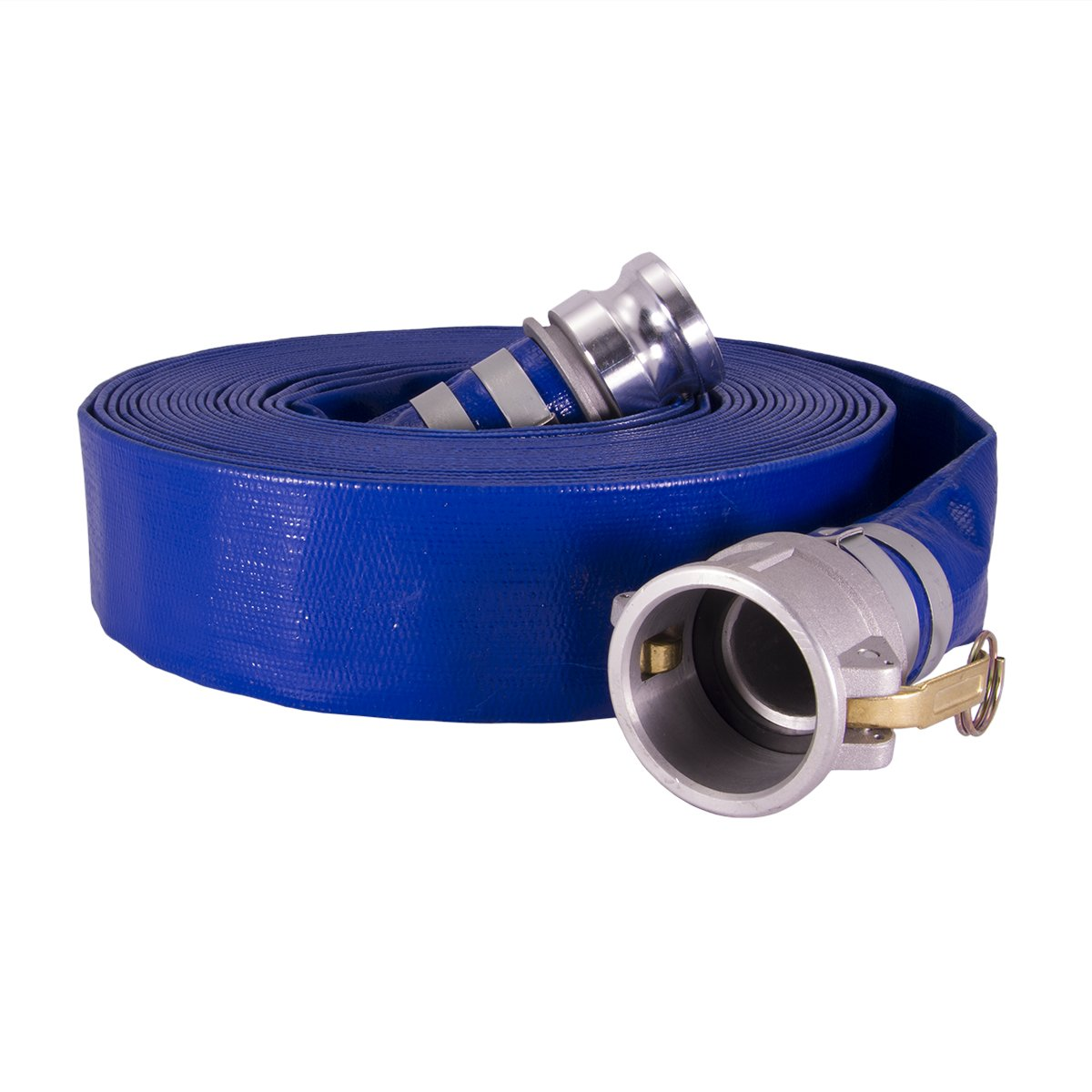 Anderson Process 4'' X 50' Layflat PVC Water Discharge Hose Assembly w/ Cam Lock Fittings