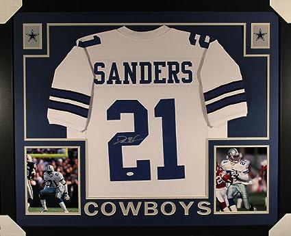 c29dbb8e4 Deion Sanders Autographed Signed Dallas Cowboys Framed White Jersey ...
