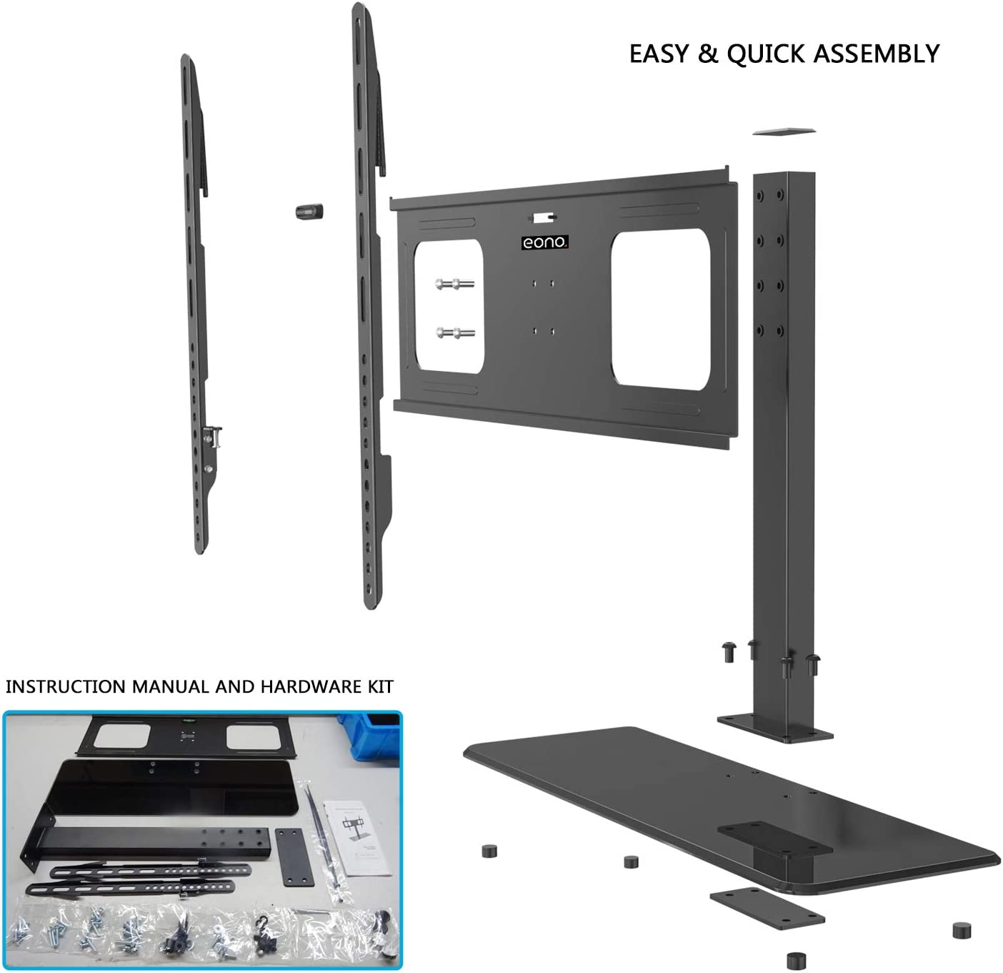 Eono Essential Table Top TV Stand for32-65 LCD/LED TV Screens with ...