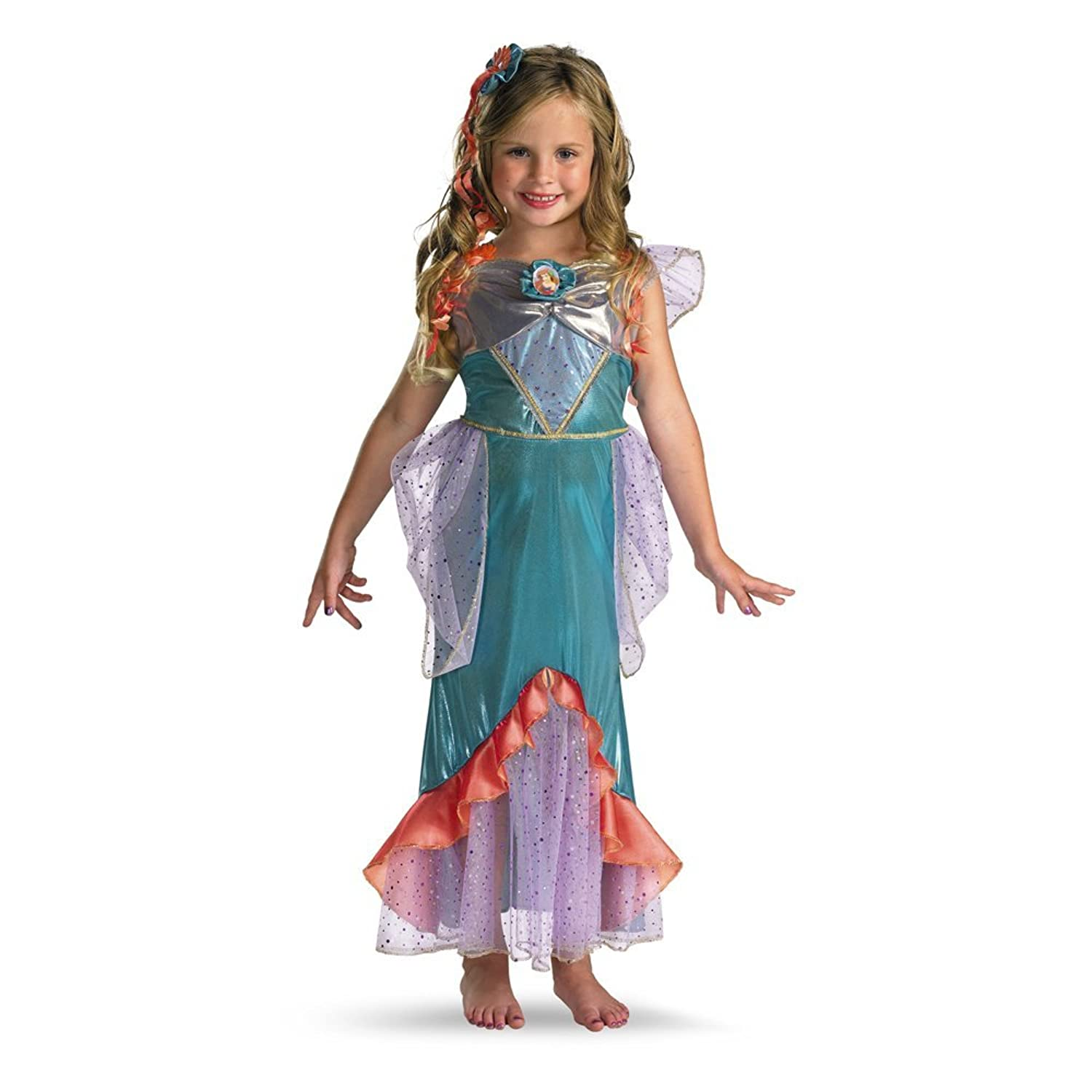 Amazon.com: The Little Mermaid Ariel Deluxe Toddler / Child Costume ...
