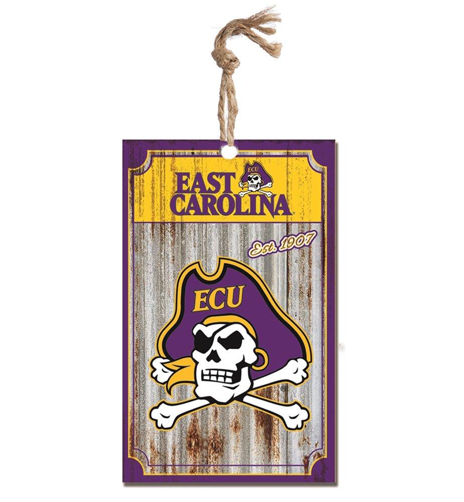 Party Explosions East Carolina University Pirates Corrugate Hanging Christmas Ornament