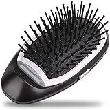 leegoal Mini Cepillo de Pelo iónico, portátil eléctrico Ionic Hairbrush peinadores Cuero cabelludo masajeador…