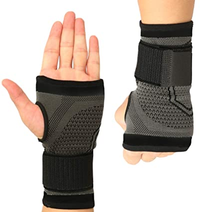 2a269757ca KIWI RATA Wrist Sleeve Brace, Copper Content Infuse Wrist Support  Compression Sleeve Wrist Wrap for Gym and Recovery from Pain, Sprains,  Carpal Tunnel, ...