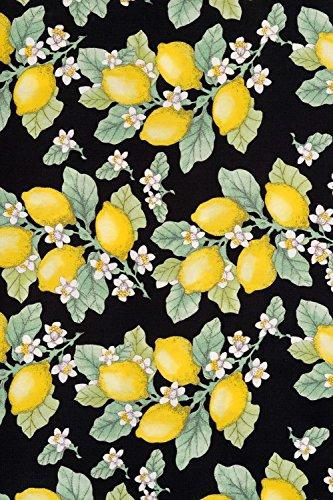 Hell Bunny Leandra Lemon Années 50 Rockabilly Style Vintage Swing Retro Jupe