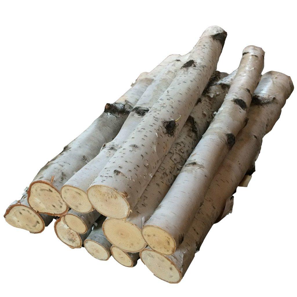 amazon com bundle of birch logs home u0026 kitchen
