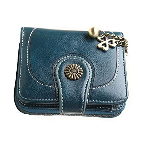 Uzinb Vintage Leather Cera de petróleo Corta de Las Mujeres ...