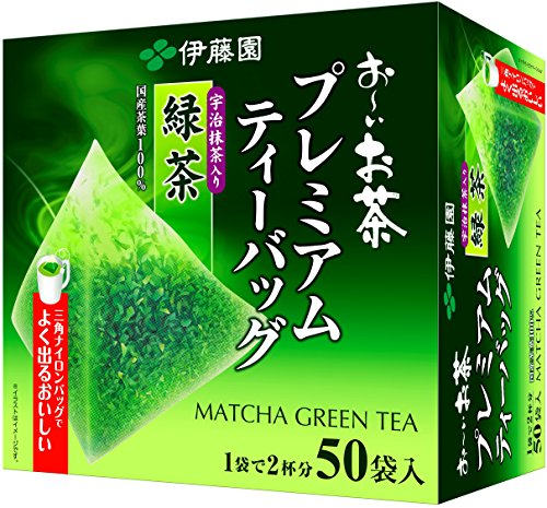 Itoen Ryokucha Green tea Matcha Blend Premium bag Pack of 50 by Ito En