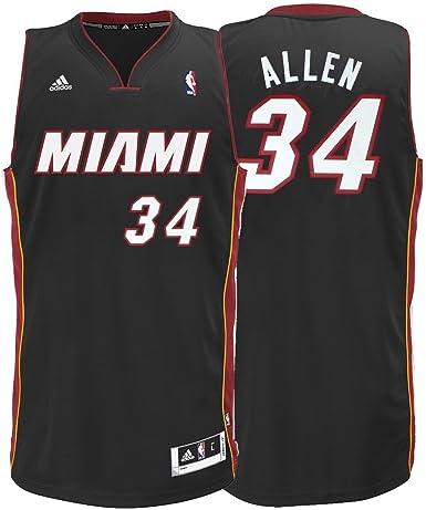 adidas NBA Ray Allen Miami Heat Revolution 30 Performance Swingman Jersey - Black