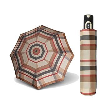 Paraguas abre cierra doppler carboonsteel cuadros clásicos