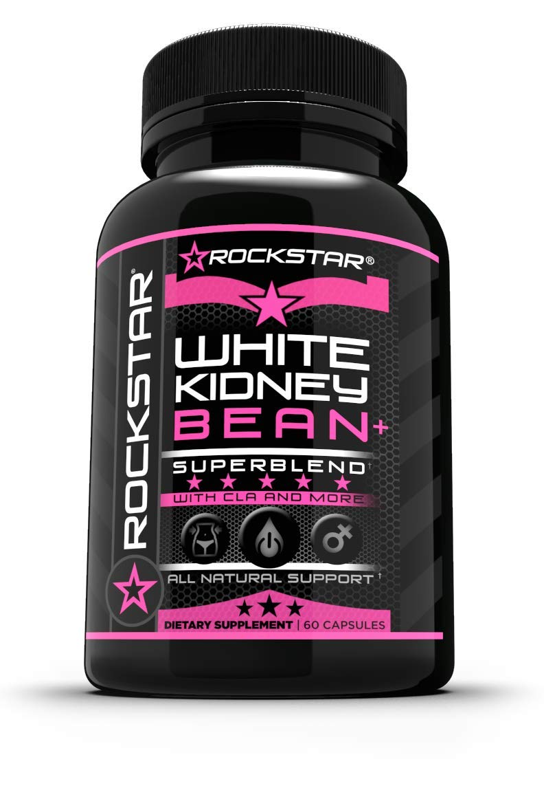 Rockstar White Kidney Bean Diet Pill, Women, 60 Count