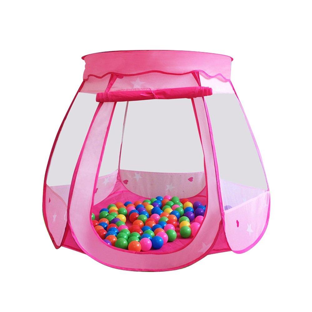 ポップアップ子供のゲームテント、ピンクとブルー星6つサーフェスモデリング海洋ボールHouse通気性テント折り畳み式テントインドアとアウトドアおもちゃビーチ120 cm90 cm – by tianta ピンク 199811 B07CVK5VDW ピンク