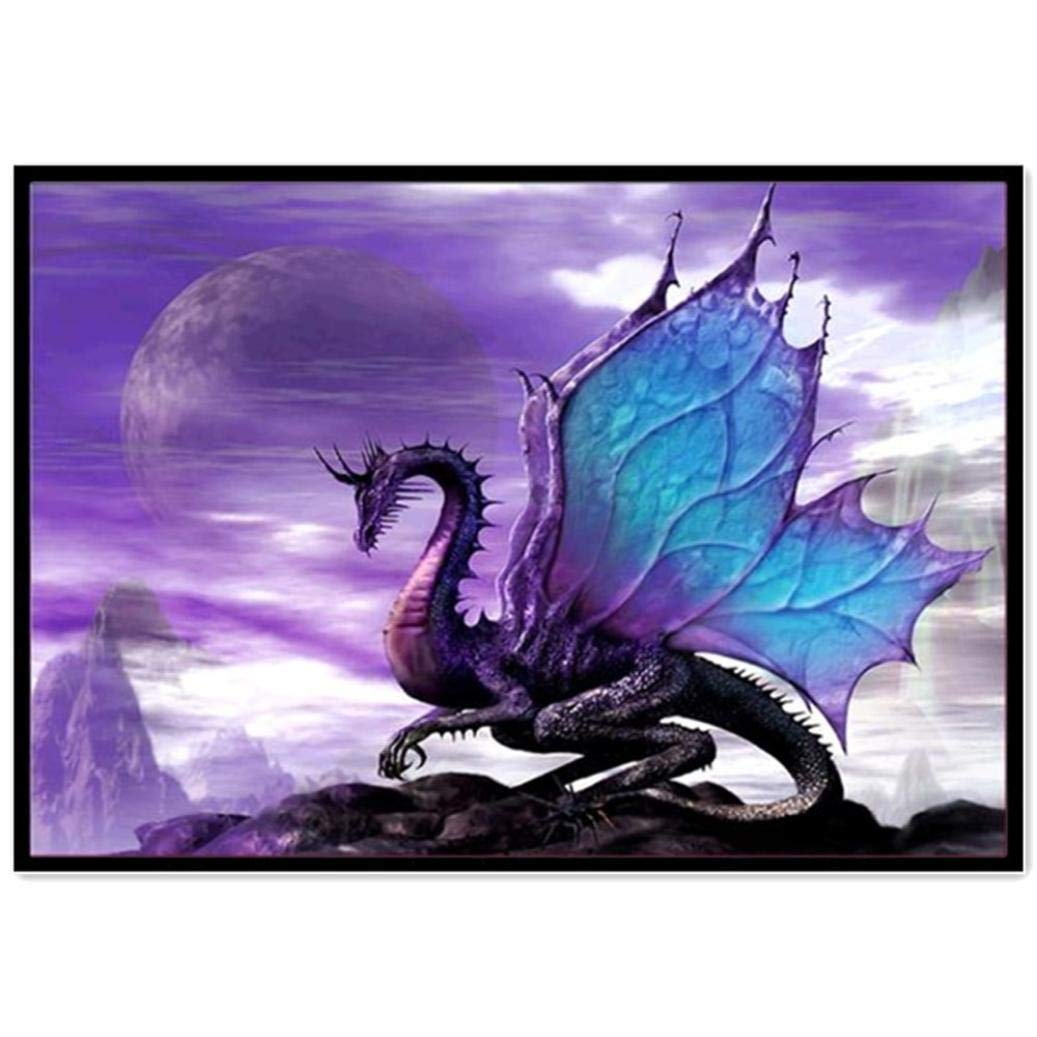 Staron  5D Diamond Painting Kits for Adults Dragon - Home Decor DIY Embroidery Cross Stitch Kit Crystal Rhinestone Diamond Embroidery Paintings Pictures Arts Craft for Home Wall Decor (A) Staron ®
