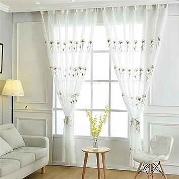 GUOCAIRONG® 1 Stück Tüll Vorhang Edle Fenster Bildschirme Tüll Blume Tür  Tüll Vorhänge Fenster Vorhänge