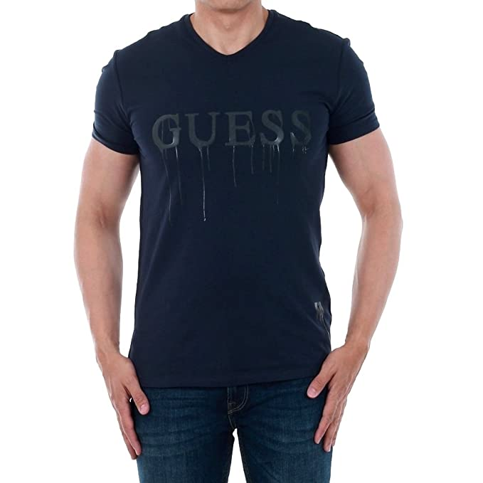 GUESS Camiseta Hombre Azul Marino M74I01J1300-G720 ylVoAT2