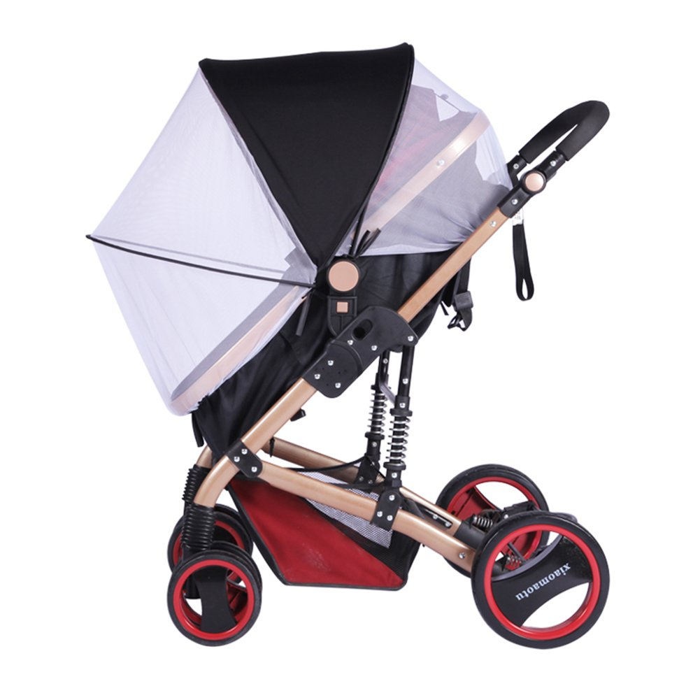 Liveinu Baby 2 in 1 Mosquito Net and Sun Shades with Zipper Closure Instant Pop Up Bug Net for Baby Strollers Infant Carriers Car Seats Cradles Black ISA-MCMY-TCWZ-001-4