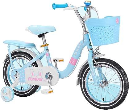 Axdwfd Infantiles Bicicletas Bicicleta para niñas, Ruedas de 12-14-16 Pulgadas, para Bicicletas para niños de 2 a 8 años, Azul y Rosa: Amazon.es: Deportes y aire libre
