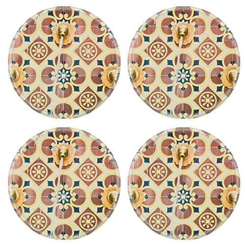 Luxlady Round Coasters Fountain morocco style vintage filter IMAGE 37965122 Customized Art Home Kitchen