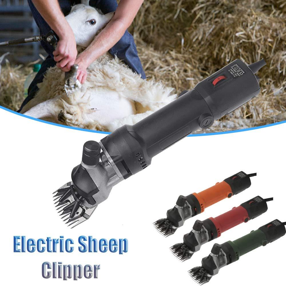 A-Naranja Sinbide 690W Maquina de Esquilar El/éctrica para Oveja Tijeras M/áquinas para Esquiladora Tijeras de Lana Ovino Alpaca 6 Velocidades Ajustables Cuidado del Oveja